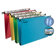 Suspension file for drawers 33 cm Premium kraft LMG Esselte normal bottom assorted colours