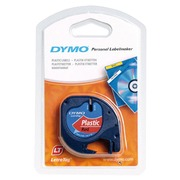 Plastic ribon Dymo Letratag 12 mm S0721530 transparent black