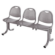 Vega 3 chairs on a beam width 150 cm - alu metal