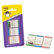 66 sterke indexen Post-it met blauw/groen/rode rand 25x38mm