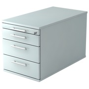 Mobile cabinet 4 drawers, extra depth Manhattan Grey
