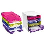 Pack classification module + 4 translucent letter trays Cep assorted colours