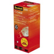 Clear tape Scotch Crystal - Pack of 7 + 1 free