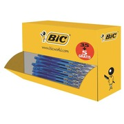 Pack of 35 roller pens Bic Cristal Gel with cap point 0.8 medium writing blue + 5 free
