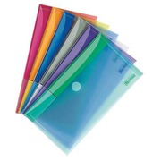 Tarifold velcro document holder 13,5 x 25 cm assorted colours - pack of 6