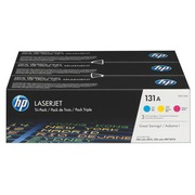 HP 131A - 3-pack - yellow, cyan, magenta - original - LaserJet - toner cartridge ( U0SL1AM )
