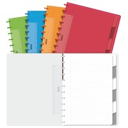 Mixte notebooks Adoc colorlines A4 4x8