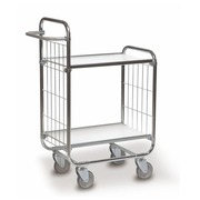 Trolley galvanized 2 trays - capacity 250 kg