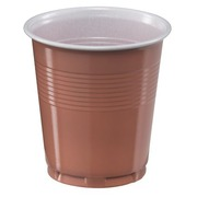 Disposable plastic cup 10 cl brown - Set of 300