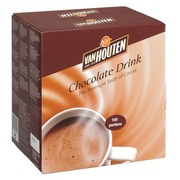 Chocolate drink Van Houten powder individual bags - Box of 100