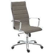 Office chair Milano leather - Back H 60 cm