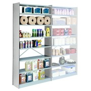 Versatile shelving, basic element, 250 x 120 cm, grey, cross braces