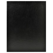 Guest book guenuine leather Alpille - 27x22cm portrait - Black
