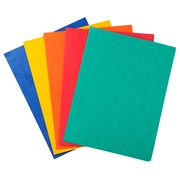 3 Flap Folder without Elastic Straps 400gsm Hard glazed mottled premium pressboard A4 - Assorted colours