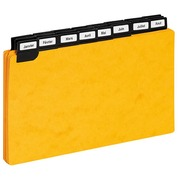 Guide cards 125 x 200 mm Exacompta yellow - set of 24