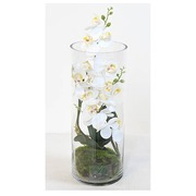 Flower piece artificial flowers white moon orchid 40 cm