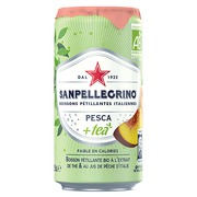 San Pellegrino peach tea 25 cl - pack of 24 cans