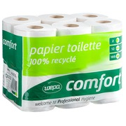 Toilet paper double thickness Wepa Prestige - box with 96 rolls of 185 sheets