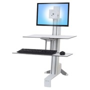Ergotron WorkFit-S Single LD with Worksurface - standing desk converter