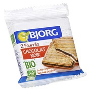 Filled biscuits with black chocolate Bio Bjorg - bag of 50 g