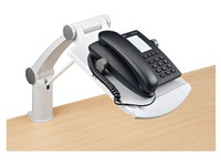 Telephone support with expandable arm