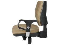 Pair of adjustable armrests 1D for chair Bruneau