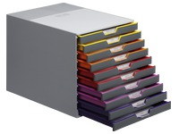 Classifying module Durable Varicolor 10 drawers in grey