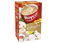 Box of 20 bags Royco Minute Soup mushrooms with crusts