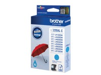 BROTHER LC-225XL inktcartridge cyaan high capacity 1200 paginas 1-pack (LC225XLC)