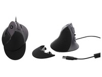 Vertical ergonomic mouse with wire