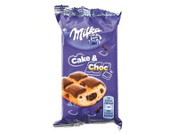 Pack of 6 boxes with 5 soft cakes of Milka cake and choc