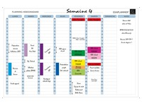 Exacompta, magnetic weekly planning
