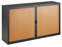Tambour cabinet specific width 100 x 180 cm anthracite